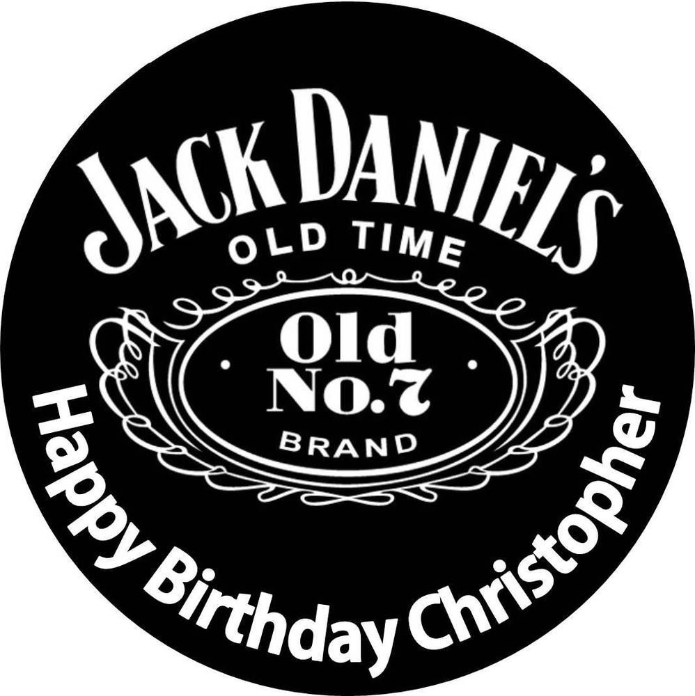 Edible jack daniels whiskey wafer cake topper round 18cm birthday edible jack daniels whiskey wafer cake topper round 18cm birthday party alcohol voltagebd Gallery