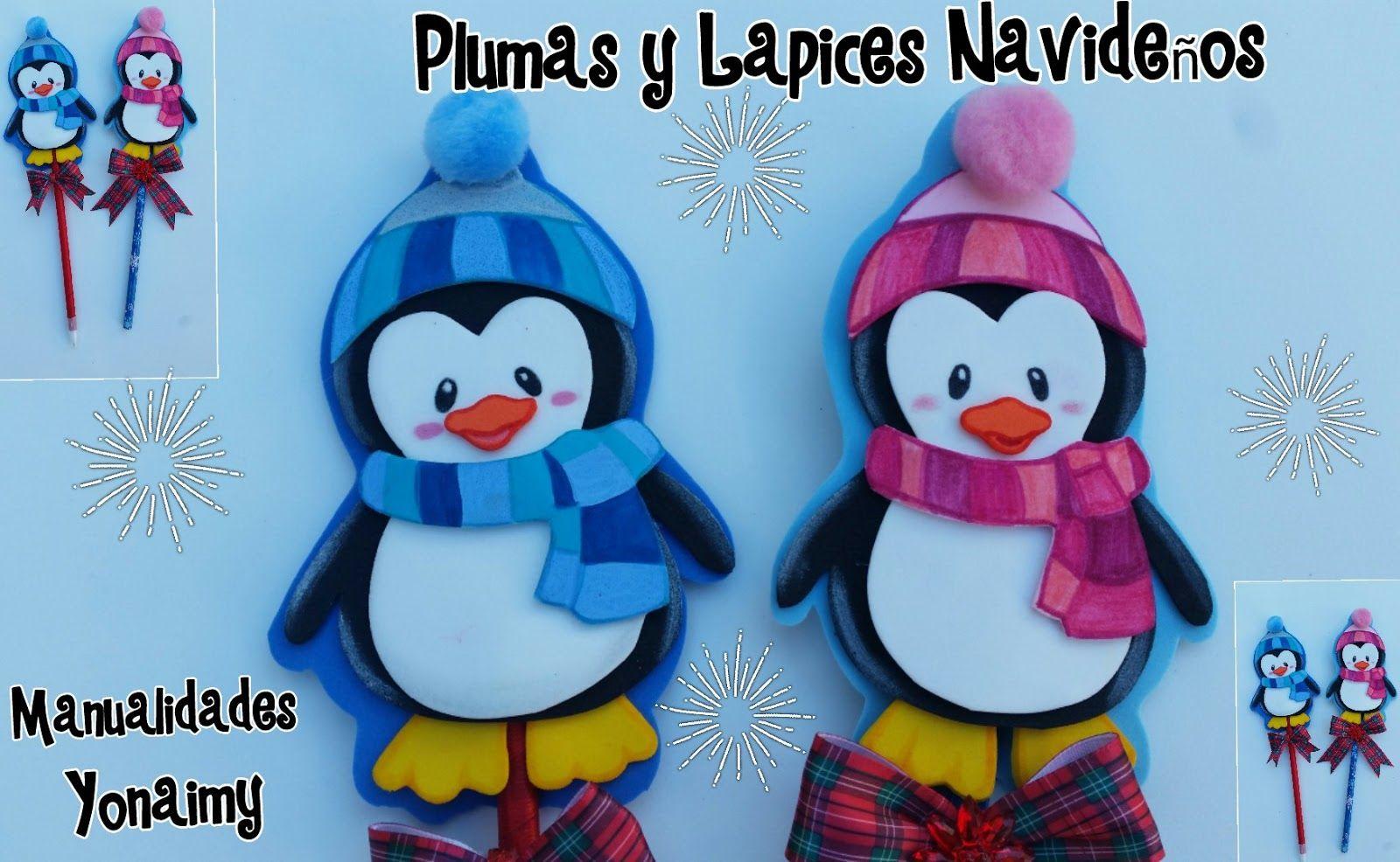 Pinguinitos Navidenos Para Adornar Lapices Y Plumas O Como