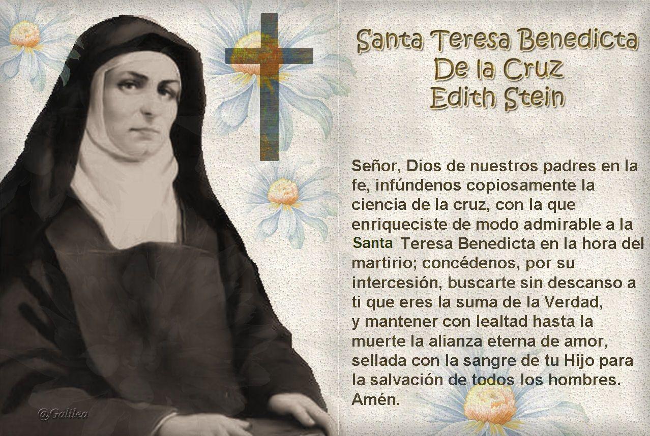 Santa Teresa Benedicta De La Cruz Edith Stein Oración