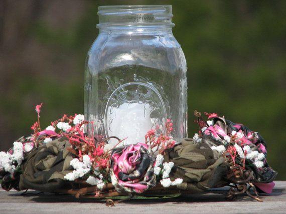 Pink Camo Wedding Centerpiece | A&B wedding ideas | Pinterest | Pink ...