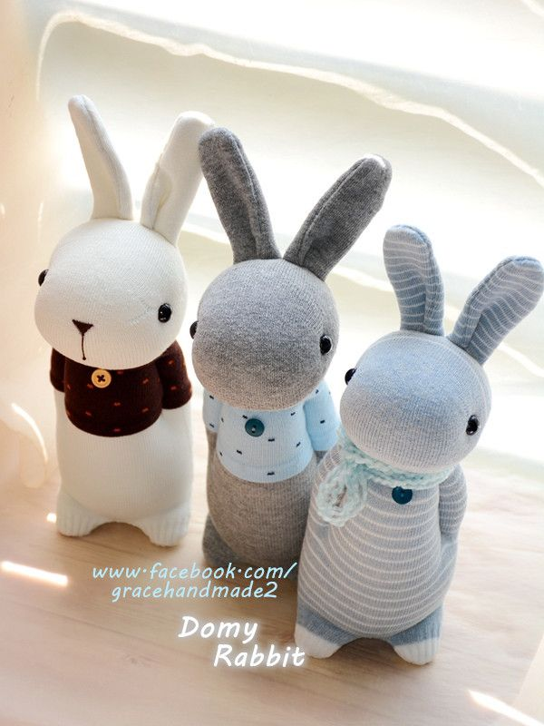 Grace--#361+#362+#363 sock Domy Rabbits | 袜子娃娃 | Pinterest ...