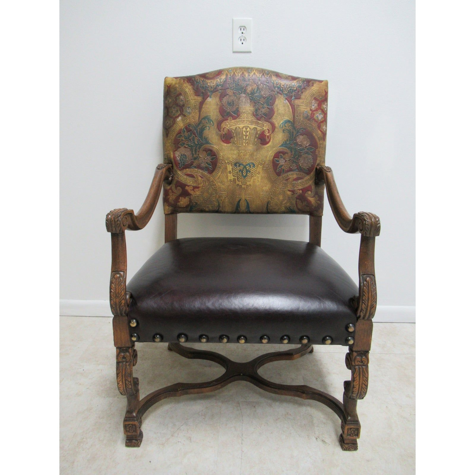 Vintage Old Hickory Tannery Leather Chair in 2020