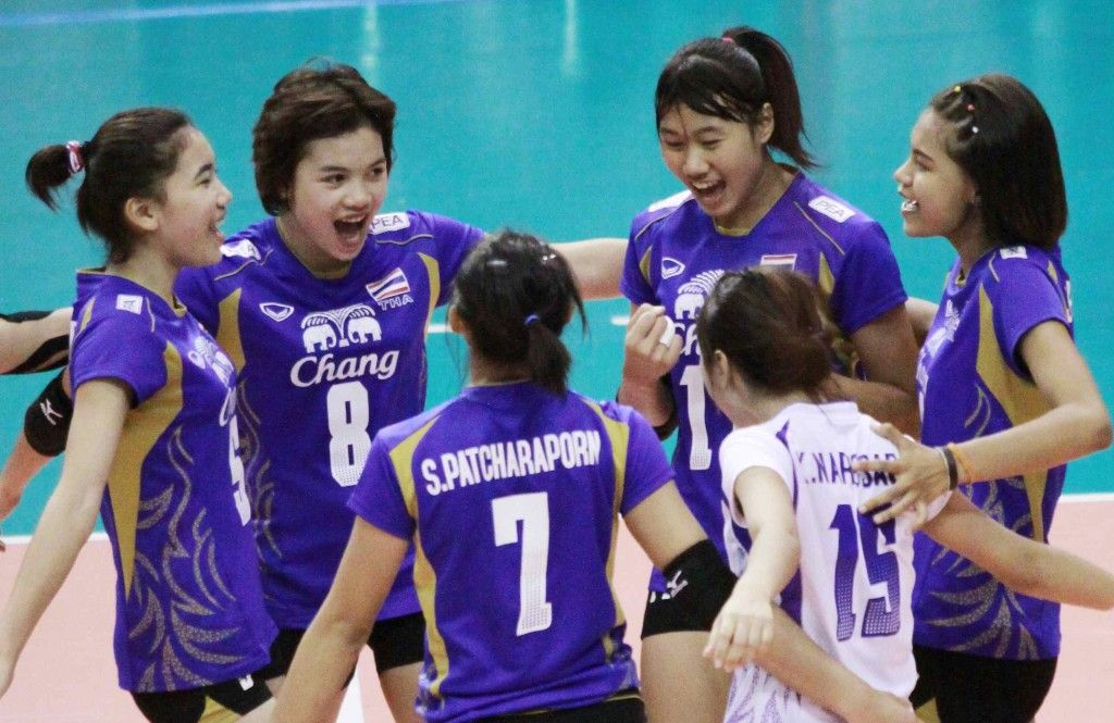 Hosts Thailand Beat Tunisia 3 0 To Finish Second In Pool A And Set Up A Last 16 Clash With China Volleyball Thailand Japan