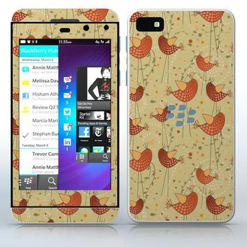 Tweeting About Love Cute long legs birds phone skin sticker for Cell Phones / Blackberry Z10 | $7.95