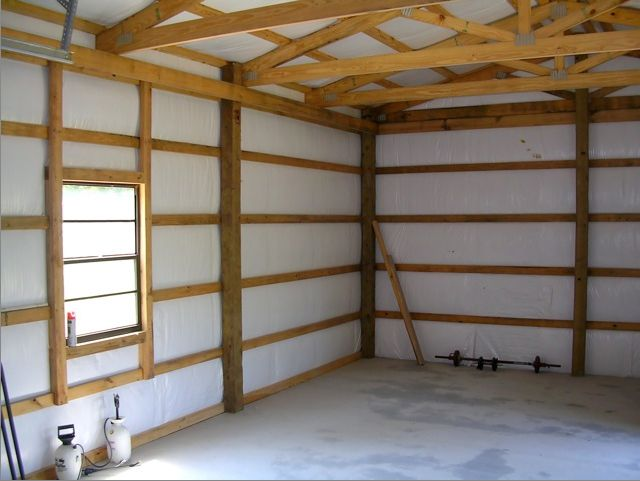 Post Frame Interior Finishing Google Search Garage