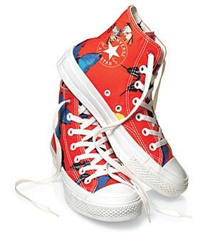 Damien Hirst Converse Sneakers: Proceeds benefit the Global Fund to Fight AIDS, Tuberculosis and Malaria. $100
