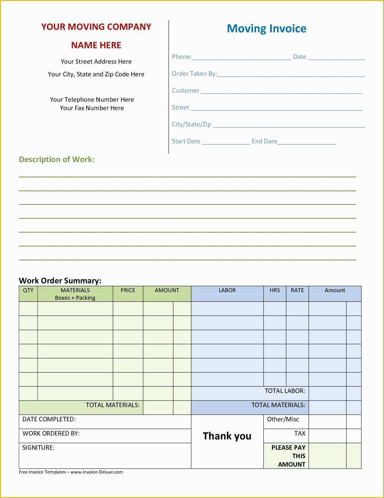 Free Online Invoice Template Of 55 Free Invoice Templates