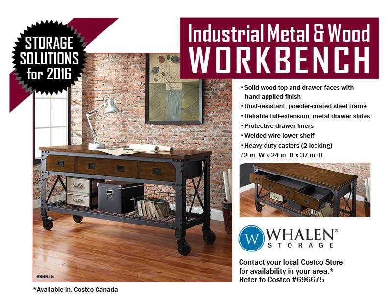 Industrial Metal Amp Wood Workbench 72 Quot W X 24 Quot D X 37 Quot H