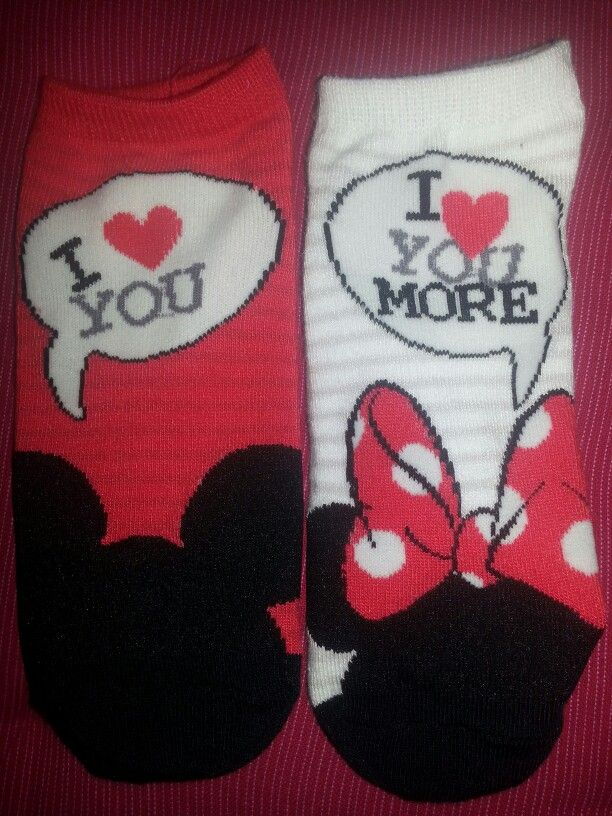 I always tell my husband that I love him more and these socks confirm it!
