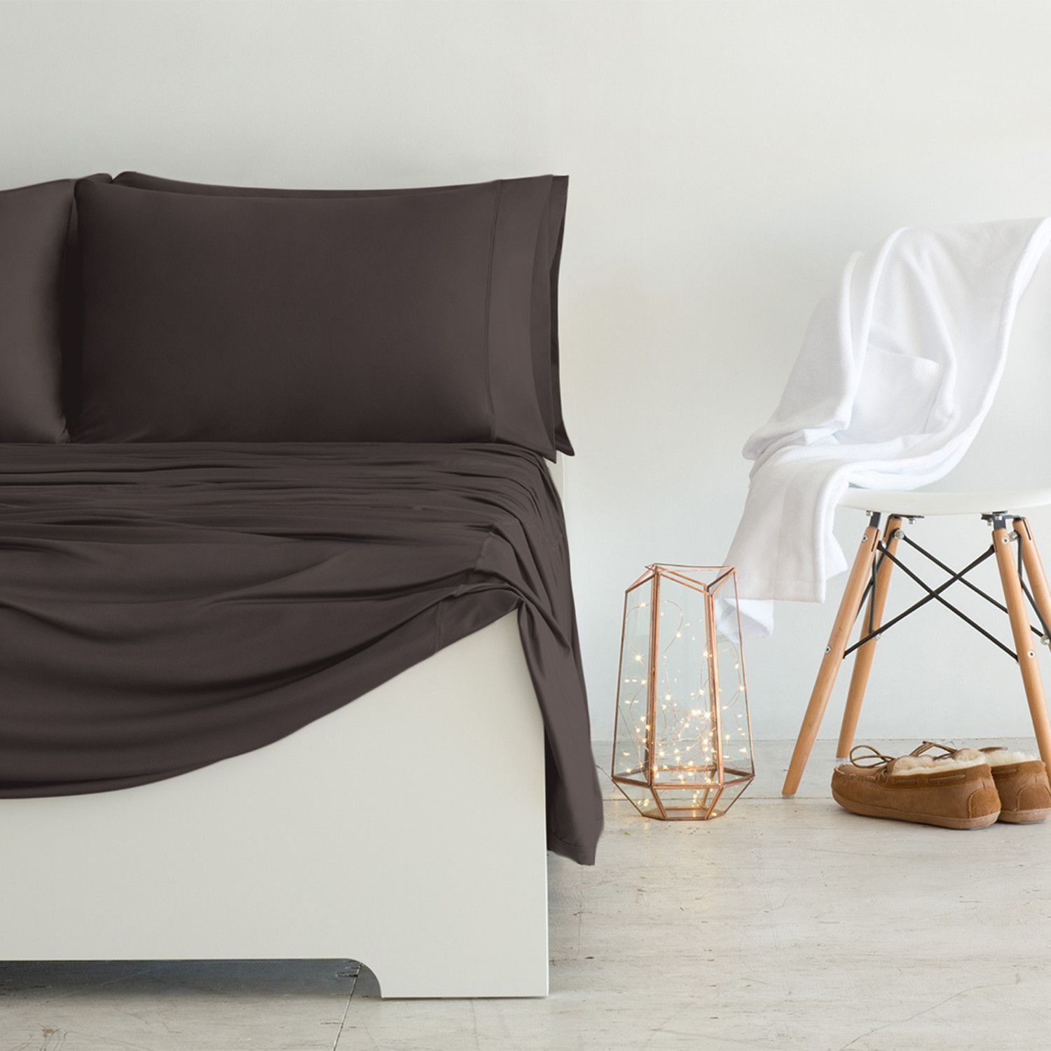 Luxury Copper Collection Chocolate Luxury Sheets Bed Bed Sheets