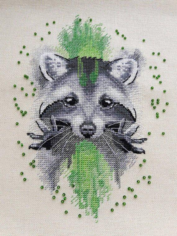 Raccoon Cross Stitch Pattern PDF Instant Download Chocolate Cross Stitch Jar Cross Stitch Animal Cross Stitch Cute Cross Stitch Yummy Chart