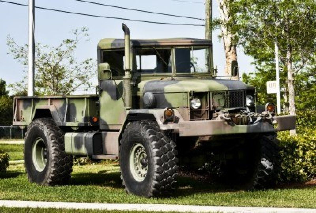 Picture of camouflage green military or army off road truck without driver stock photo images and stock photography