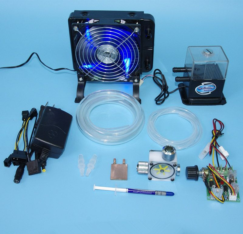 Diy Laptop Cpu Gpu Water Liquid Cooling Cooler Radiator Copper