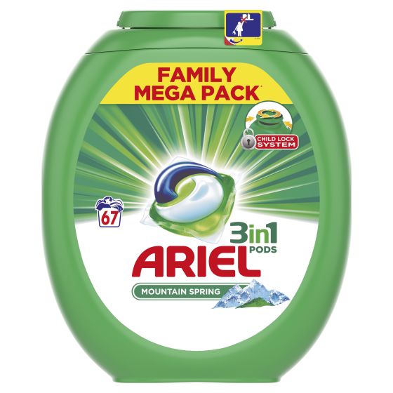 Detergent Automat Capsule Ariel 3in1 Pods Mountain Spring 67