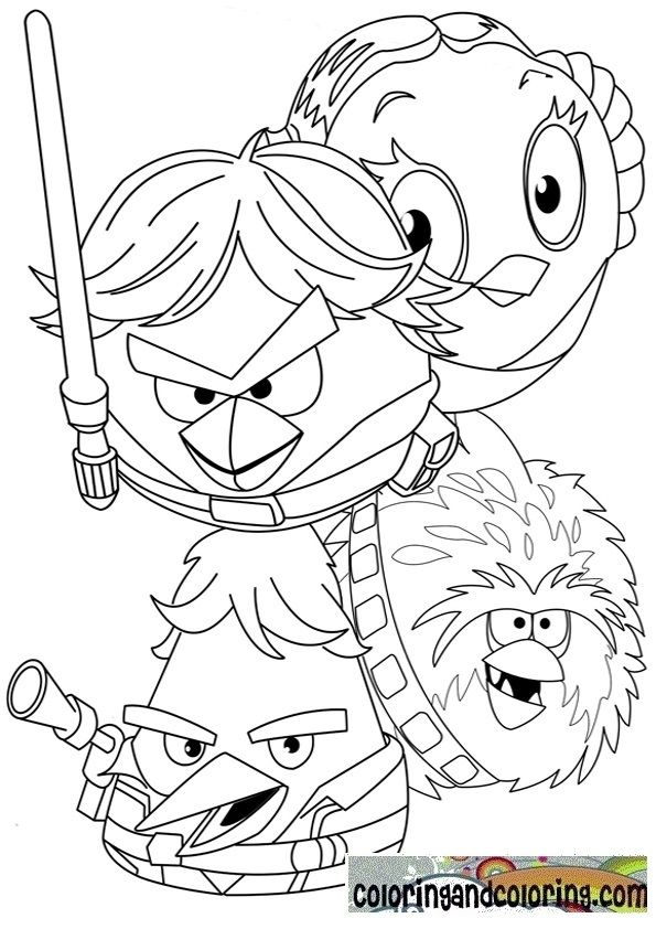 Coloring Angry Birds Star Wars Coloring And Coloring Angry Birds Star Wars Star Wars Colors Star Wars Coloring Sheet