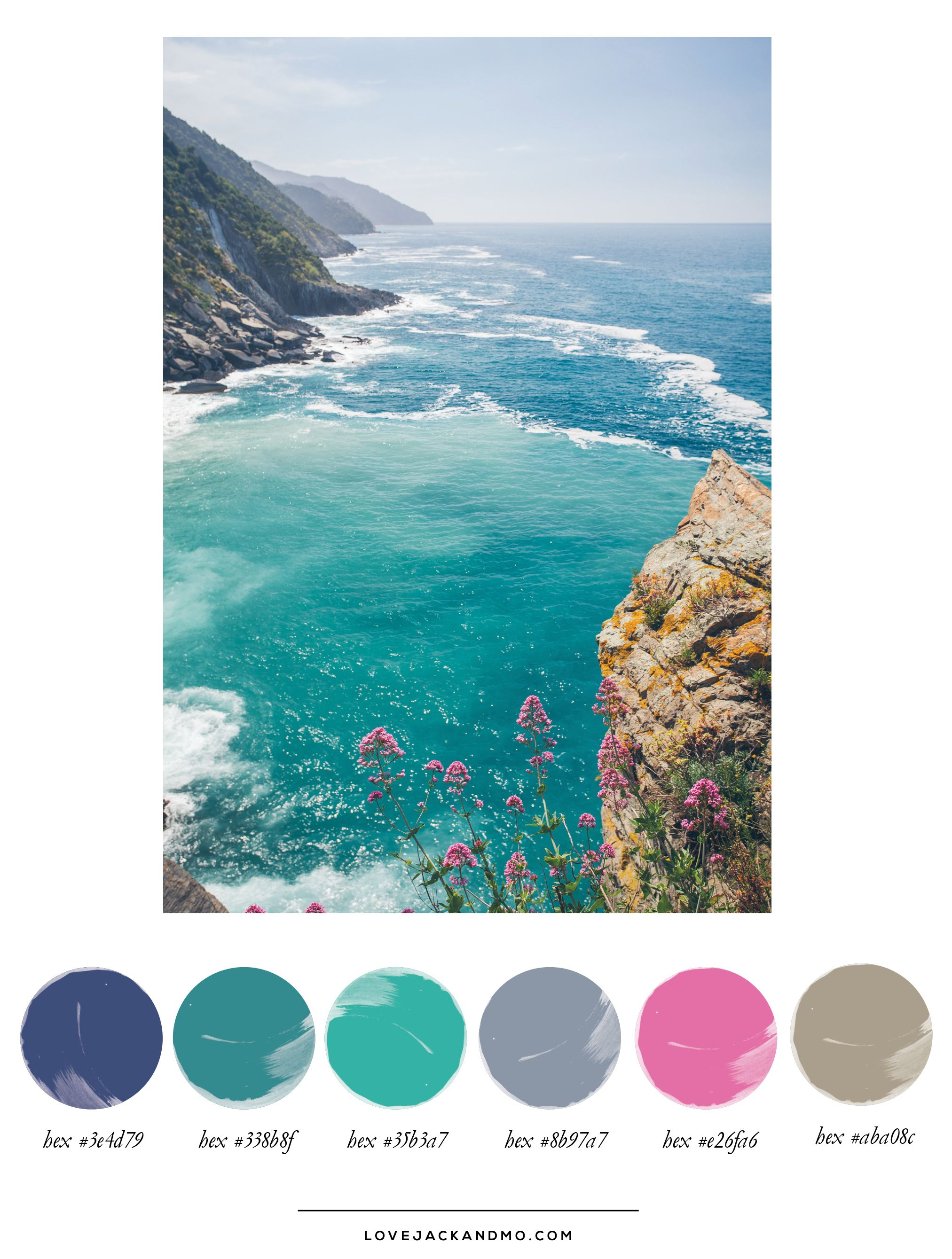 Color Palette Inspiration Cinque Terre Feel Free To Use And Enjoy These Color Codes However Youd Like