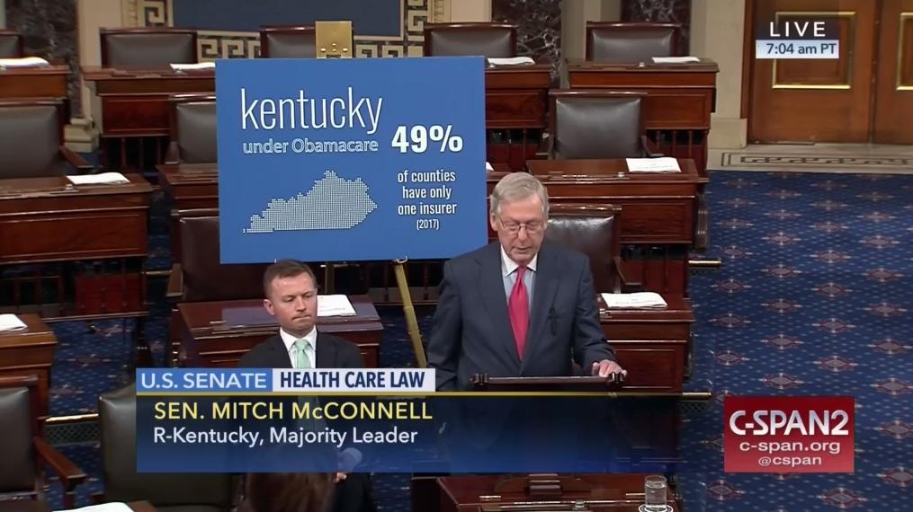 Who Senator Mitch McConnell (RKentucky) When May 2017