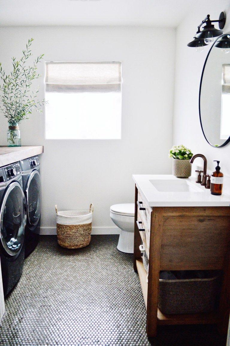 guest bathroom/laundry reveal – Kristin Dion Design