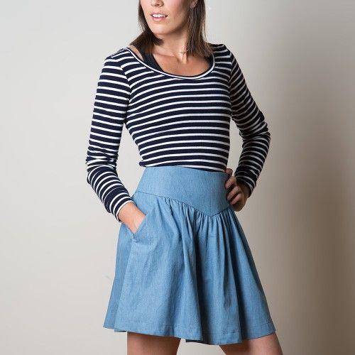 Schnittmuster: 1101 Crescent Skirt | Rock