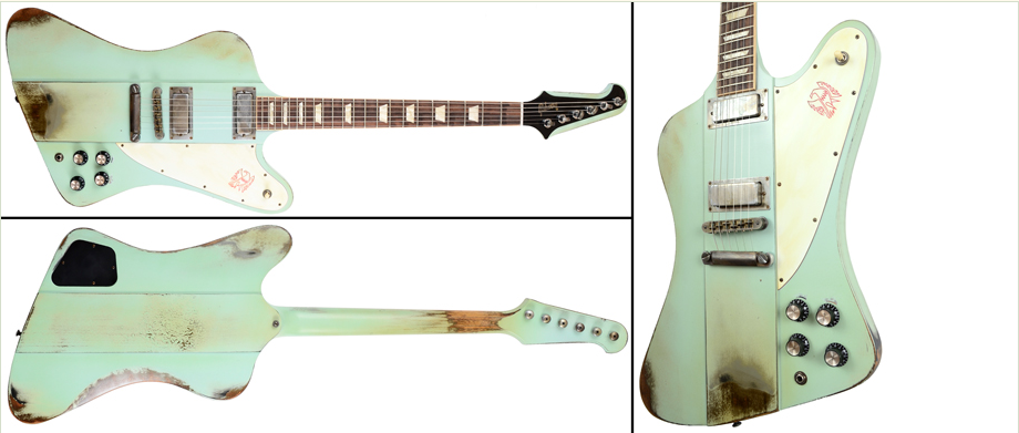Gibson Firebird V Kerry Green - GV Refinished & Aged