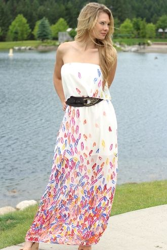 Feather Dreams Maxi Dress