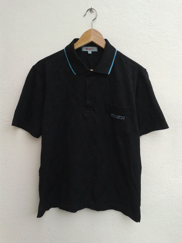 Rare!!KENZO GOLF Floral Design Kenzo Golf Embroidery Spell out Kenzo Golf Half Zipper Sweatshirt Kenzo Golf Clothing Size Large U8CWe1kv