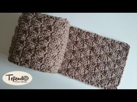 Descubrir buscar autorización los Angeles Como tejer una bufanda para chico con punto rasco en dos ...