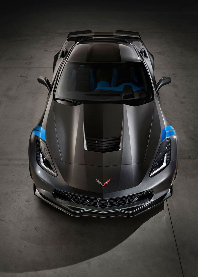 2017 Chevrolet Corvette Grand Sport Top View U2026