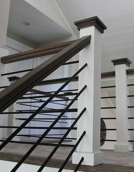 Best Horizontal Round Bar Hollow Modern Stair Railing 640 x 480