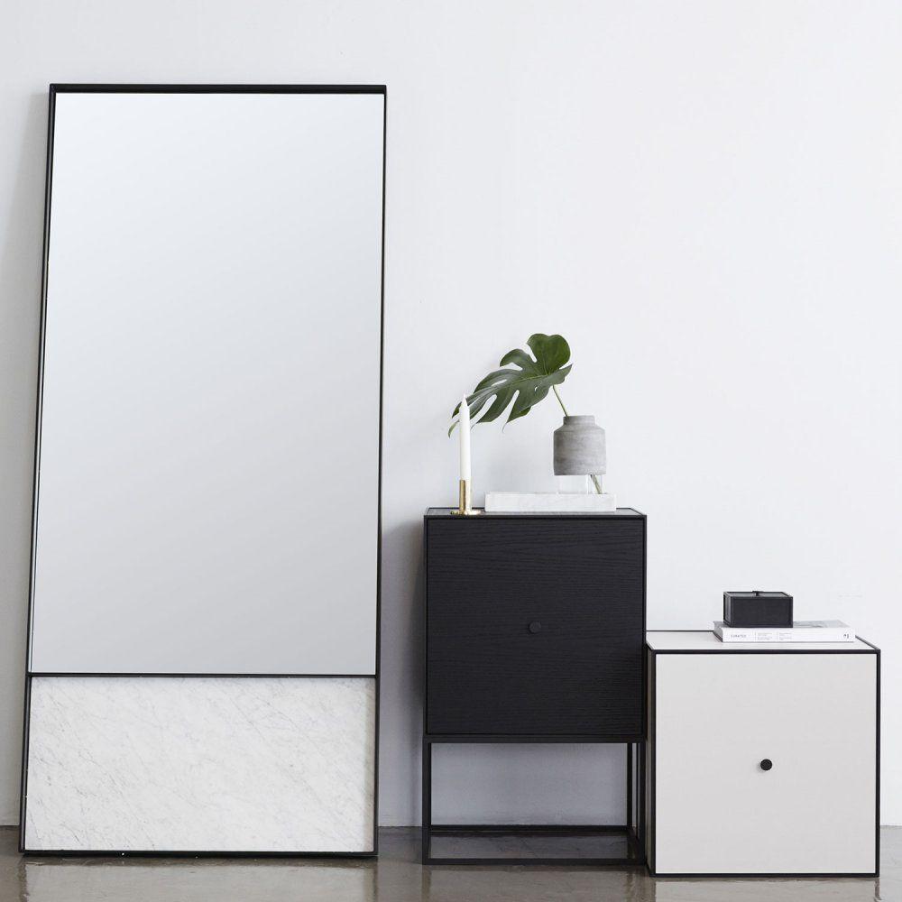 The Max Italian Carrara Marble and Steel Floor Mirror | Urban ...