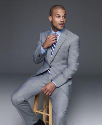 56b9f437a6e89b Tommy Hilfiger Suit Separates, Slim Fit | Suits | Mens suits, Tommy ...