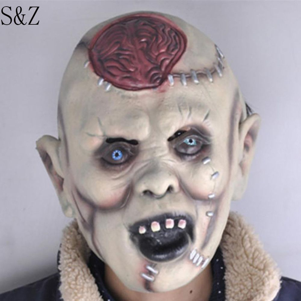 2016 new zombie mask latex bloody scary halloween mask adutl costume party cosplay prop face mask - Bloody Halloween Masks