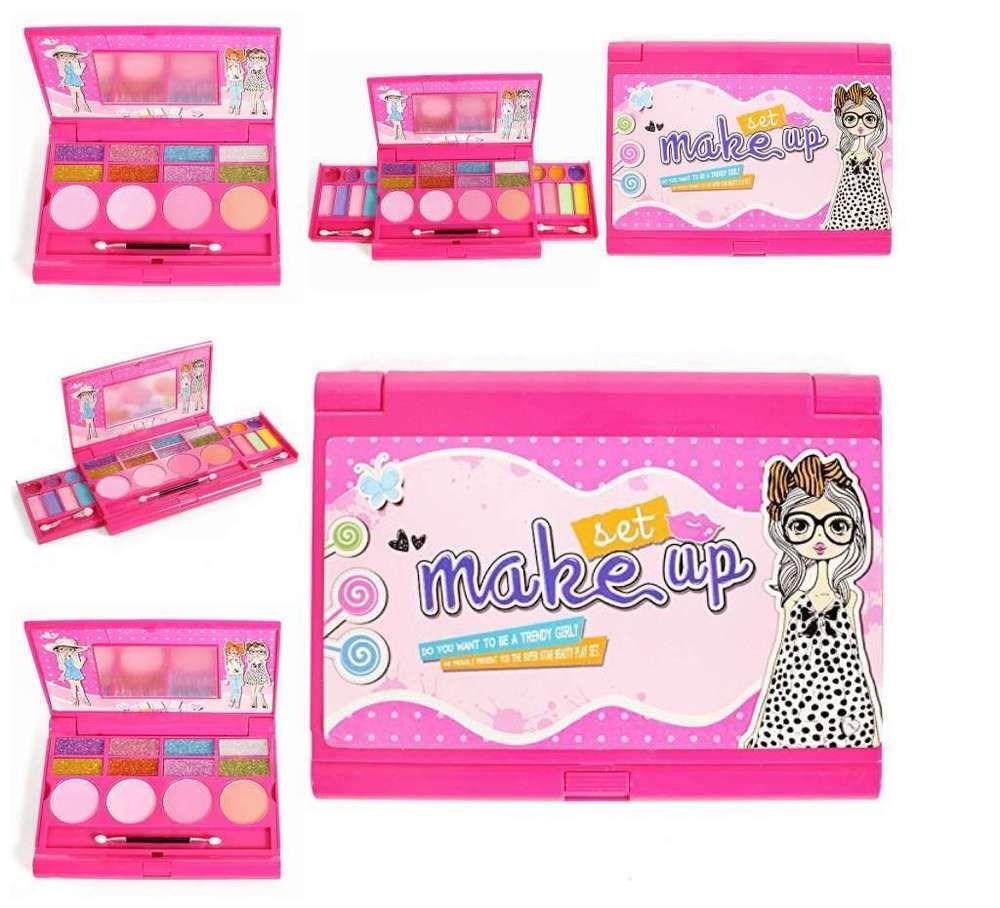 Kids Little Girls Princess Makeup Set Palette With Mirror