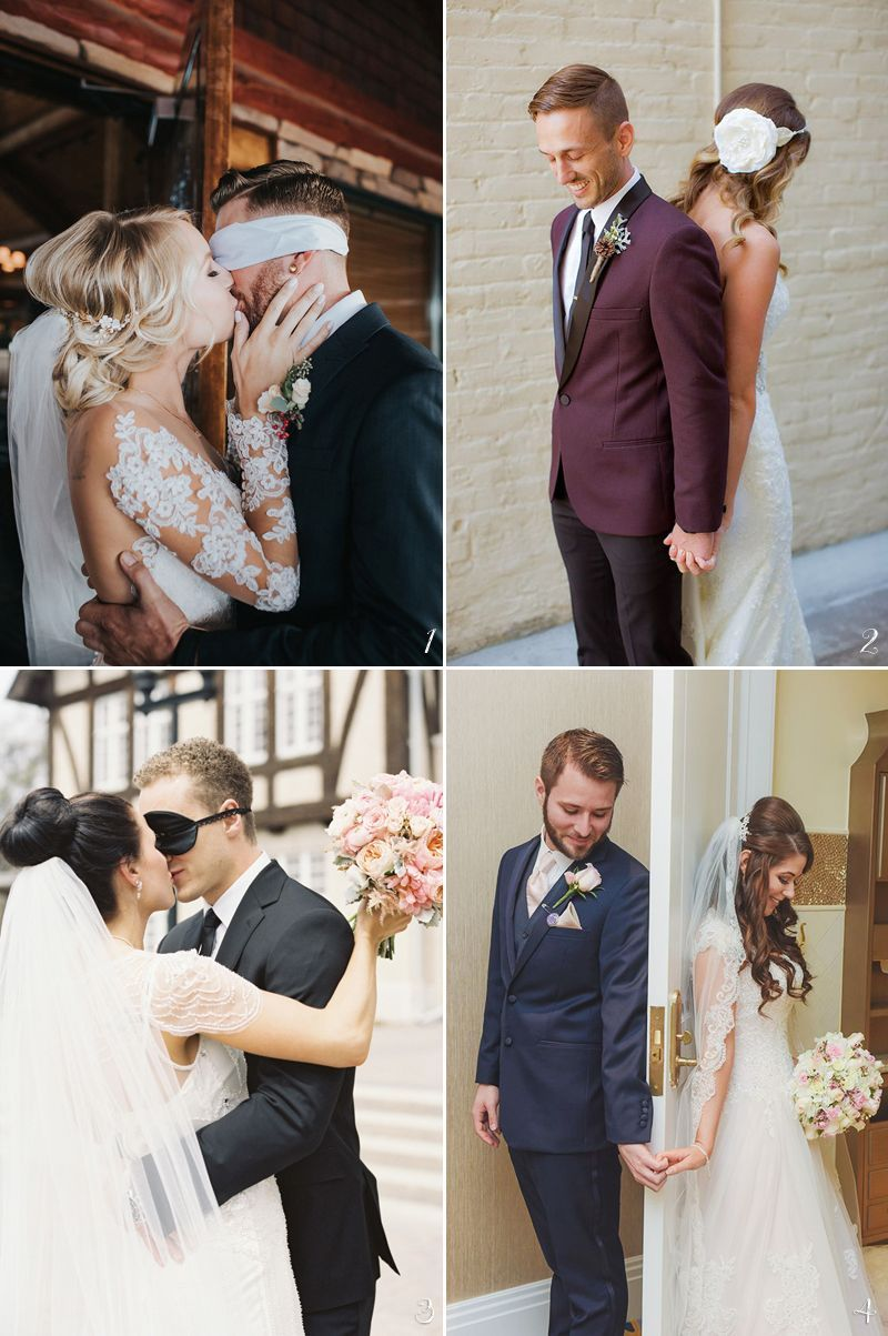 Modern Couples Are Embracing The First Look Tradition With A Creative Touch The First Look Is Not On Bride Groom Photos Wedding First Look Wedding Photography