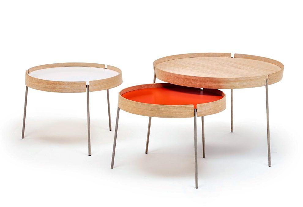 tables basses gigognes reverso nissen & gehl : tables basses