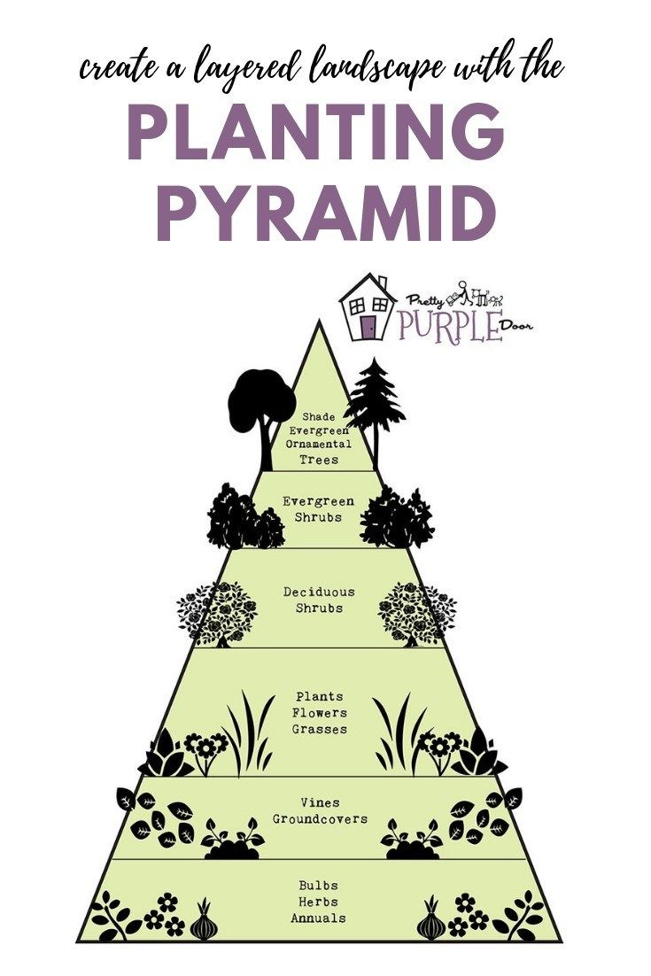 The Garden Pyramid for Planting Success #landscapingtips
