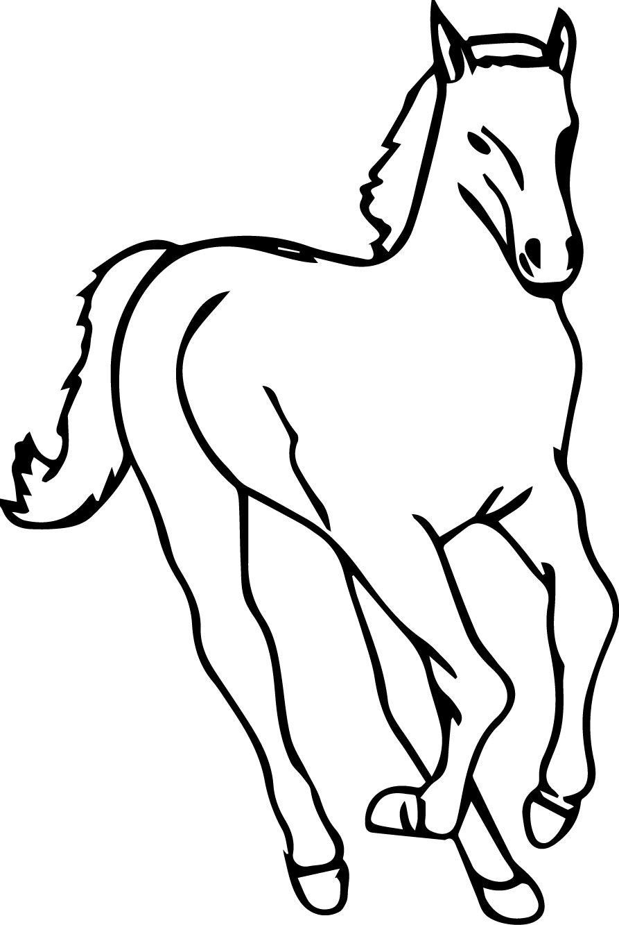 Cartoon Horse Coloring Page Youngandtae Com Horse Coloring Pages Horse Coloring Horse Coloring Books