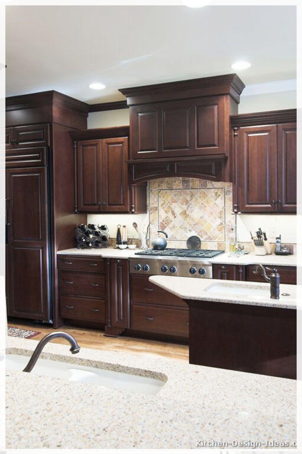 20 Stunning Industrial Style Kitchen 2020 Trends Key Elements Design Ideas Cherry Cabinets Kitchen Cherry Wood Kitchen Cabinets Cherry Wood Cabinets