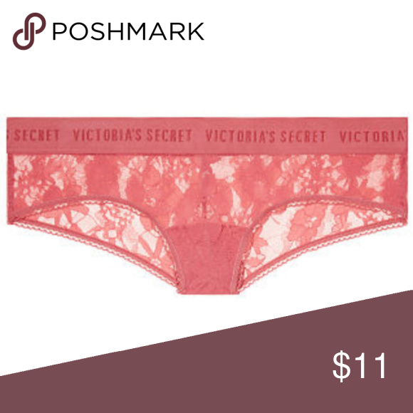 34f4db8a6abd Victoria's Secret Logo Panty The Lacie Logo Cheeky in Empire Rose Logo  elastic waist with wide