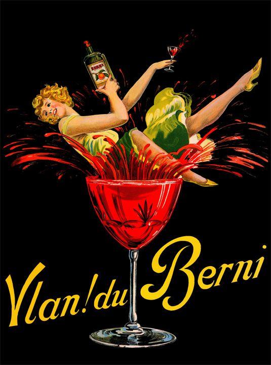 Vlan Du Berni Vintage Belgian Spirits And Wine Poster