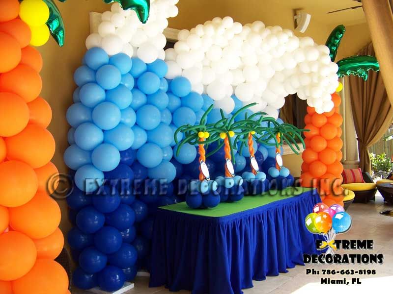Nice Beach Themed Party Decorating Ideas Part - 12: Beach Theme Party Decorations