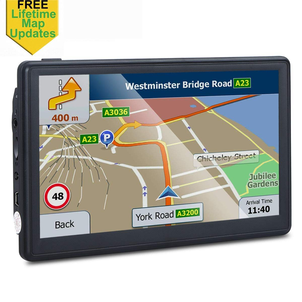 Gps Navigation For Car 7 Inches 8gb Lifetime Map Update Spoken