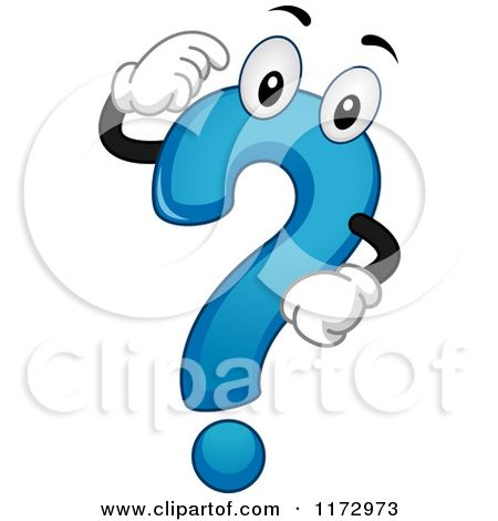 Cartoon Of A Thinking Blue Question Mark Mascot Royalty Free Vector Clipart By Bnp Design Studio Cartoon Question Mark Free Vector Clipart Vector Free