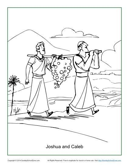 Coloring Pages For Joshua : Joshua and caleb coloring page sunday school