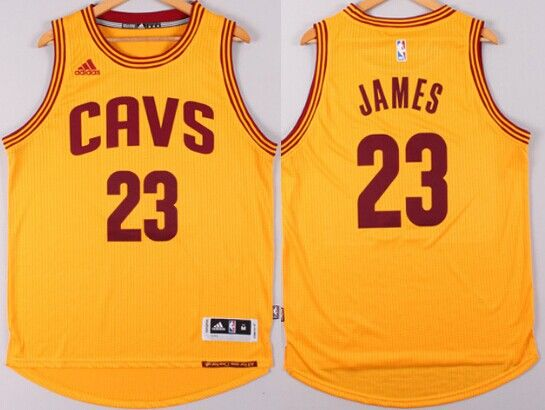 Cleveland Cavaliers #23 LeBron James Revolution 30 Swingman 2014 New Yellow Jersey