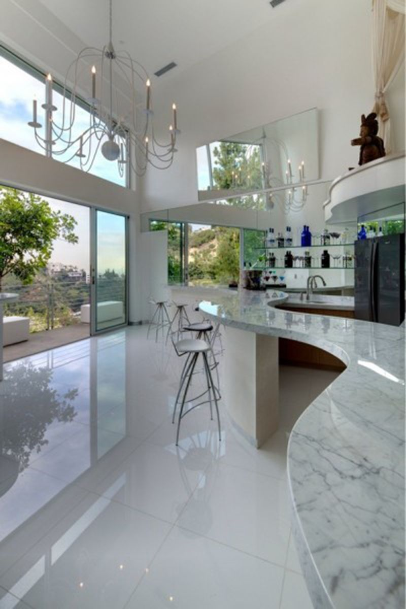 Modern Home Design With Eye-Catching Details In The Hollywood Hills
