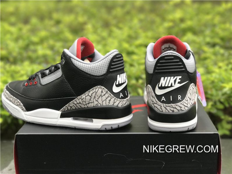 "sale retailer ae1d8 64c2e Best Air Jordan 3 OG ""Black Cement"" in 2019 