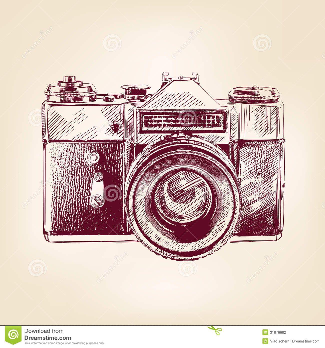 Fotokamera Vektor Llustration Der Weinlese Altes Download Von