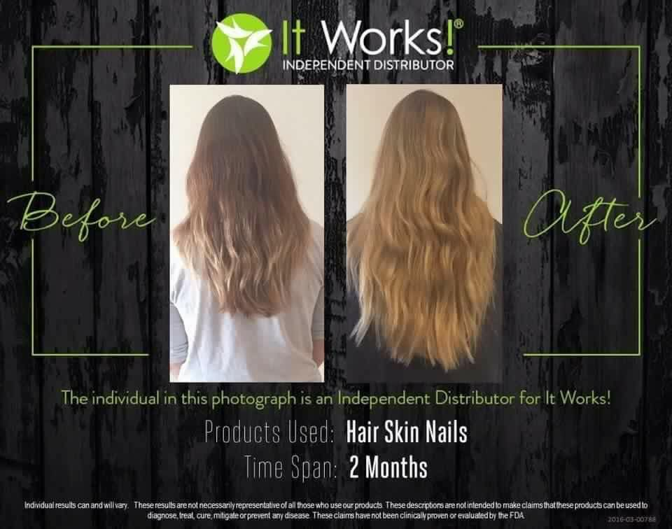 LOOK at these awesome results using it works Hair Kin and nails for ...