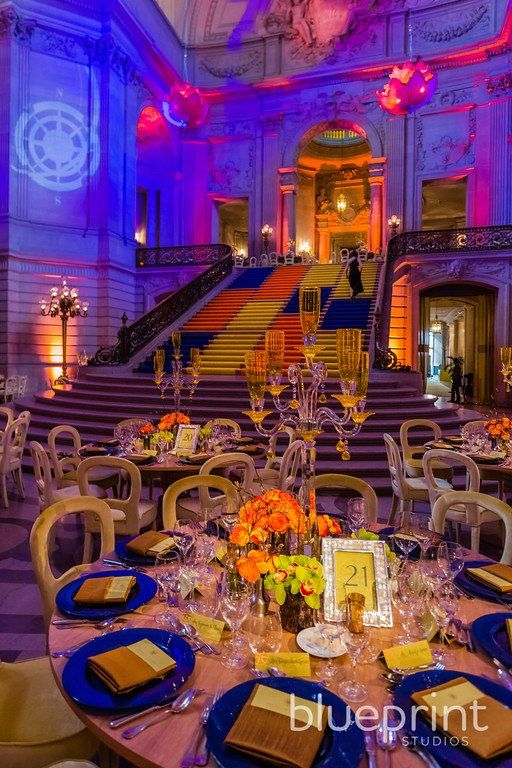 Table Decorations Atmosphere Colourful Alternative New Age Colour Scheme And Imagery Traditional Building Like A Museum Or Library